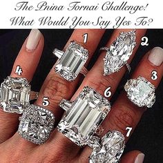 The #PninaTornaiChallenge is back! What ring would you say yes to?! Comment with the # of ring you like & tag your girl friend with the number of ring you think she would want. You can also tag your boy friend (hint, hint..) with the # of ring he needs to get you..
