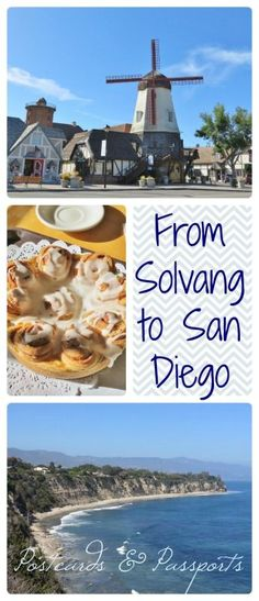Road Trip to Solvang from San Diego - Postcards & Passports California Travel, California Coast, Southern California, Travel Inspiration, Travel Ideas, Travel Tips, Us Destinations, Road Trip Usa, Le Moulin