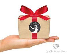 Verpackung zu Weihnachten - Packung Design mit Sticker