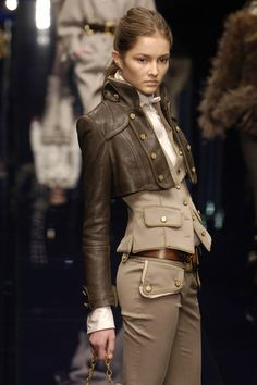 Dolce & Gabbana - The short leather jacket is cool and different! LIKE. Now I just need to earn a LOT more pennies... ;)