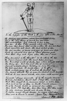 Samuel Finley Breese Morse, 1815. The knight at the head of the poem gestures toward the distant future of 1965.