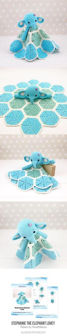 Stephanie the Elephant Lovey  crochet pattern