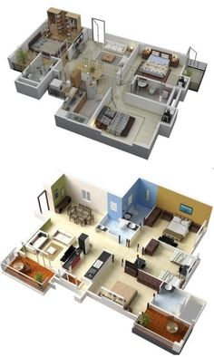 Awesome Home Designing U2014 (via 3 Bedroom Apartment/House Plans)