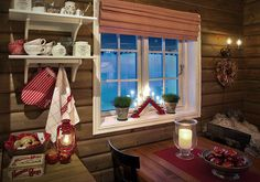Roger's Cabin Side - The finished cabin Cabin Furniture, Lake Cabins, Cozy Cabin, Decoration, Valance Curtains, Windows, Rustic, Country, Sierra Nevada