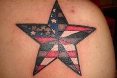 American flag done in nautical star    Bengt