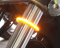 Wrap-Around Motorcycle LED Fork Turn Signal Light Kit from Chrome Glow