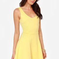 LULUS Exclusive Merengue Moment Yellow Dress