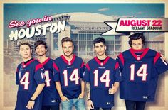 One Direction Houston!!! Who else is going because I'm going for sure!!!! I would really like to see some of ya!! Comment below if your going (: