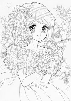 Witch Coloring Pages, Coloring Book Art, Cute Coloring Pages, Animal Coloring Pages, Anime Drawings Sketches, Cute Drawings, Lineart Anime, Vintage Coloring Books, Mandala Artwork