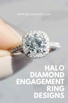 We all know and love the classic Halo Ring Design! Find out just how affordable our halo designs are at www.brillianteers.com. Engagement Ring Shapes, Dream Engagement Rings, Perfect Engagement Ring, Engagement Wedding Ring Sets, Halo Diamond Engagement Ring, Designer Engagement Rings, Diamond Wedding Bands, Wedding Attire, Diamond Rings