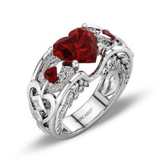 Angel Wing Inspired Lab-created Ruby Ring For Women