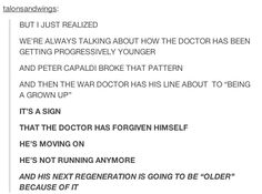 """Speaking of, Capaldi is starting to make a wonderful amount of sense… 