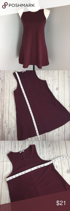 TOBI Small Maroon Sleeveless Long Length Top Gently used. Normal wear no flaws noticed. :072 Tobi Tops