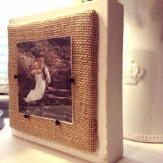 Mini Chunky Burlap Frame by InspireByAmandaG on Etsy, $15.00