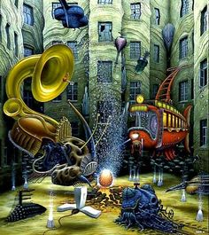 Polish Surrealist painter Jacek Yerka 1952 jj