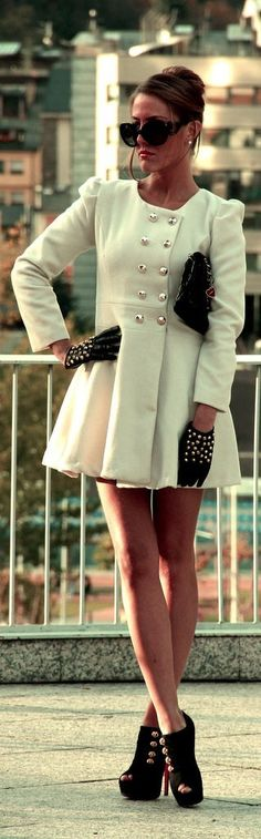 Fancy, and a nice classy/edgy combo with the studded gloves
