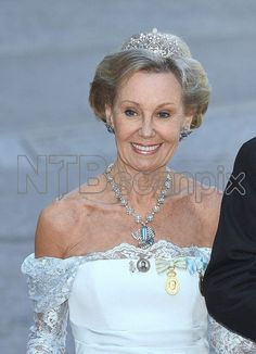 Jill Bernadotte of Sweden at the King's birthday celebrations earlier this week, wearing a lovely delicate diamond tiara