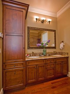 Bathroom Vanity With Linen Cabinet Linen Cabinets Bathroom Linen