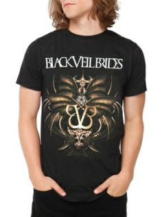 Black Veil Brides Wings Slim-Fit T-Shirt I have this shirt <3