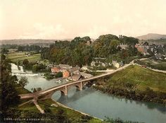 Shropshire, Ludlow and Dinham Bridge, England - home of A. Houseman, my favorite poet Images Of England, Places Ive Been, Places To Visit, British Isles, Old Pictures, Vintage Postcards, Great Britain, Old World, River