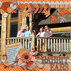 Yes, our goofy family does rabbit ears--doesn't everybody?? I used AS THE LEAVES TURN--the MOnthly Mix kit from Gingerscraps found here:  http://store.gingerscraps.net/Monthly-Mix-As-The-Leaves-Turn.html and a template from our new designer Jen C Designs JUMBO PHOTOS VOL 3 not currently in her store at Gingerscraps