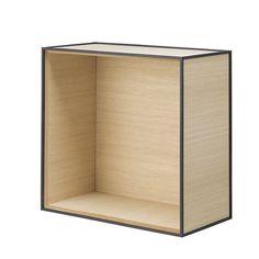 Frame 42, oak excl. door - by Lassen Measurement: 21x42x42 cm Internal measurements: 18x39x39 cm Colour: Oak Material: Veneer / mdf / lacquered steel  219€