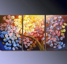 30 DISCOUNT Original floral oil painting brush by ArtTatyana, $280.00