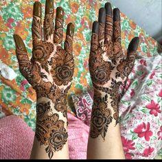 Mehndi Designs For Hands, Pretty Henna Designs, Modern Henna Designs, Floral Henna Designs, Henna Tattoo Designs Simple, Indian Mehndi Designs, Full Hand Mehndi Designs, Mehndi Designs 2018, Mehndi Designs Book