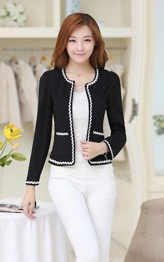 You will look radiant this winter Blazer Outfits, Blazer Fashion, Hijab Fashion, Fashion Outfits, Coats For Women, Clothes For Women, Work Fashion, Fashion Design, Spandex Dress