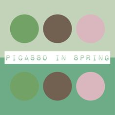 In memory of one of the greats, we would like to share our color group: Picasso in Spring - inspired by Pablo Picasso's bold colors and subtle hues.