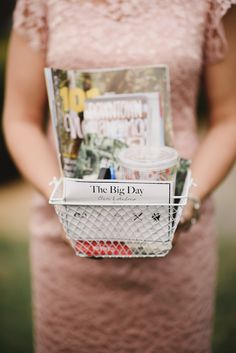 Personalized Gift Baskets for each Out Of Town Guests! Ceiling Draping, Wallis, Vancouver Island, Outdoor Photography, Wedding Favours, Reception Decorations, Gift Baskets, Big Day, Bliss