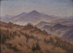 Landscape with the Rosenberg in Bohemian Switzerland - Caspar David Friedrich