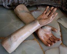 19th century santos hands