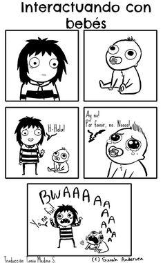 Este es muy cómico porque soy una niñera y este situación ocurra mucho.  Los bebes son impredecible especialmente cuando ellos son tan joven como este bebe.