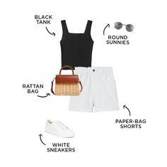 #capsulewardrobe #summerfashion Capsule Outfits, Capsule Wardrobe, Best Memorial Day Sales, Bathing Suit Shorts, Trends, Dress Hats, Cute Summer Outfits, Summer Essentials, Summer Wardrobe
