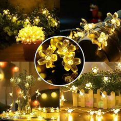 Lights 16 Cherry Blossom Warm LED String Light Material: Silicone Waterproof: Yes Pack: Pack of 1 Cable Length: 3 M Country of Origin: India Sizes Available: Free Size   Catalog Rating: ★4.2 (1024)  Catalog Name: Trendy Indoor String Lights CatalogID_2689180 C127-SC1620 Code: 612-13655617-234