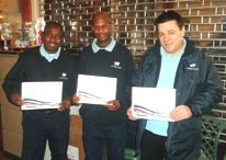 Three Pinnacle PSG staff members, who work in our CityWest Homes contract in Westminster, were awarded a 'Long Service Award' for working 10 years at Pinnacle PSG.    Domingos Conceicao, John Ogunseye and Olusanya Oluremi, who are all cleaning operatives at Pinnacle PSG, were awarded their certificates at a presentation at the Westbourne Park Office in Westminster.    Domingos commented on his 10 years at Pinnacle PSG: 'It makes me feel very proud and happy. We are like a family.'