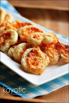 cheese and onion butterfly rolls .. made with puff pastry from the frozen food section ..