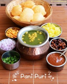 Pani puri is the first chaat I tasted in my life along pav bhaji in Salem cafe when I was a kid. That moment when you taste chaat and inst. Puri Recipes, Veg Recipes, Indian Food Recipes, Vegetarian Recipes, Cooking Recipes, Ethnic Recipes, Grilling Recipes, Healthy Recipes, Pani Puri Recipe