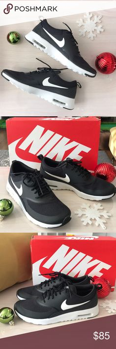 🌈NIKE AIR MAX THEA🌈 New in box size 9 black and white women sneakers Nike Shoes Sneakers