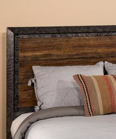 Great nod to industrial design with this Old Black Mackinac Headboard. This paired with some black night stands would be a great way to tie the bedroom in with industrial design without overdoing it and still keep it soft and cozy. King Headboard, Bedroom Updates, Headboard, Home Bedroom, Frame Headboard, Hillsdale Furniture, Furniture, Home Furniture, Headboards For Beds
