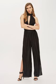 a5a67b1efd5   Pleated Jumpsuit with Keyhole by Oh My Love