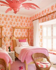 Living the Well Appointed Life with Melissa Hawks Dream Bedroom, Girls Bedroom, Bedroom Decor, Bedroom Ideas, Wicker Bedroom, Childrens Bedroom, Kid Bedrooms, Casa Mimosa, Home Interior