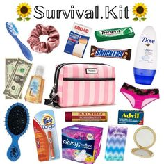 Period kit back to school emergency kit, emergency kit for girls, school survival kits Back To School Supplies For Teens, School Supplies Highschool, School Kit, Cute School Supplies, Highschool Freshman, Back To School Essentials For Teens, Highschool Survival Kit, School Supplies 7th Grade, School Backpack Essentials