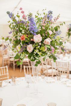 Wedding flowers - table centre piece ©Matt Harris Photography
