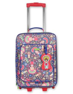 So cute! Trolley rolling suitcase by Oilily