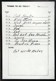 Johnny Cash To-Do List