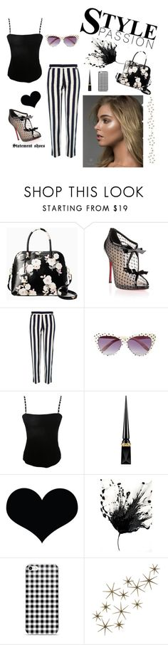 """""""Untitled #18"""" by eleni-p ❤ liked on Polyvore featuring Kate Spade, Christian Louboutin, River Island, Jean Muir, Brika and Global Views"""