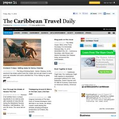 The Caribbean Travel Daily Vacation Deals, News Today, Caribbean, Tourism, Environment, Social Media, Entertaining, Island, Paper