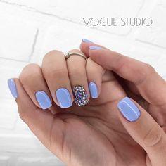 Periwinkle Nails, Blue Nails, Cute Acrylic Nails, Acrylic Nail Designs, Stylish Nails, Trendy Nails, Nail Manicure, Gel Nails, Dipped Nails